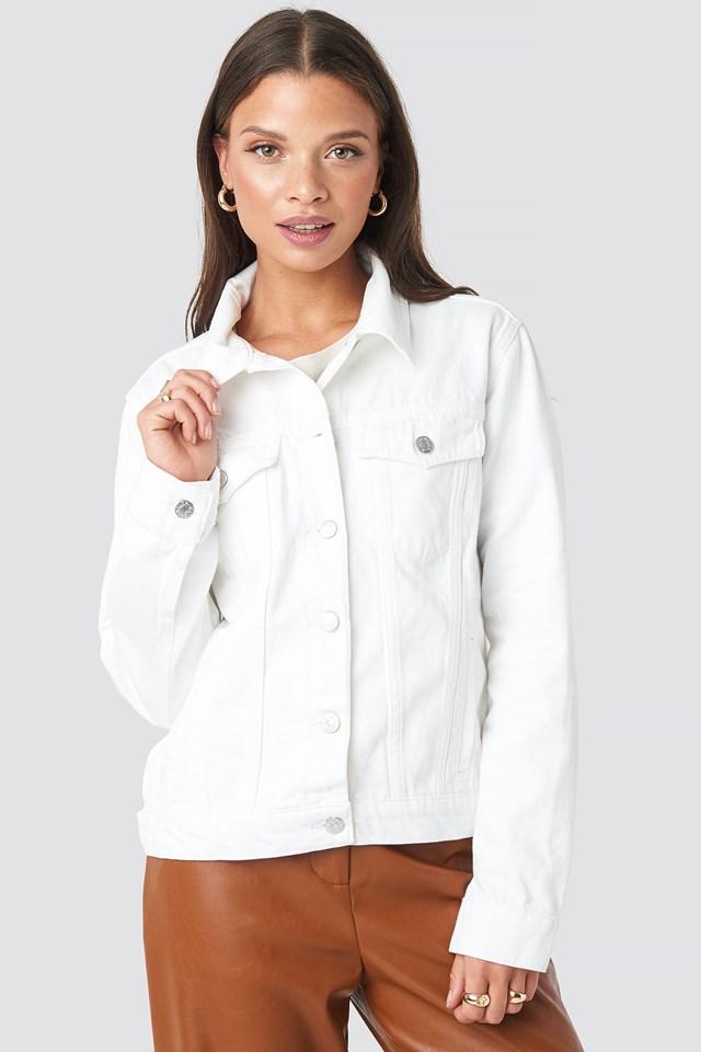 Regular Fit Denim Jacket White