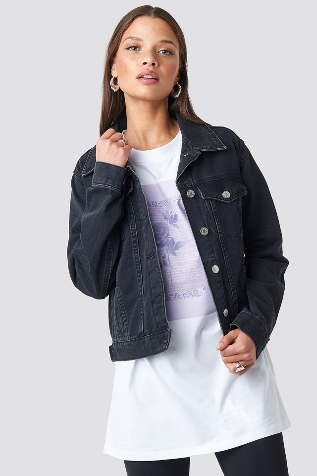 Regular Fit Denim Jacket NA-KD.COM