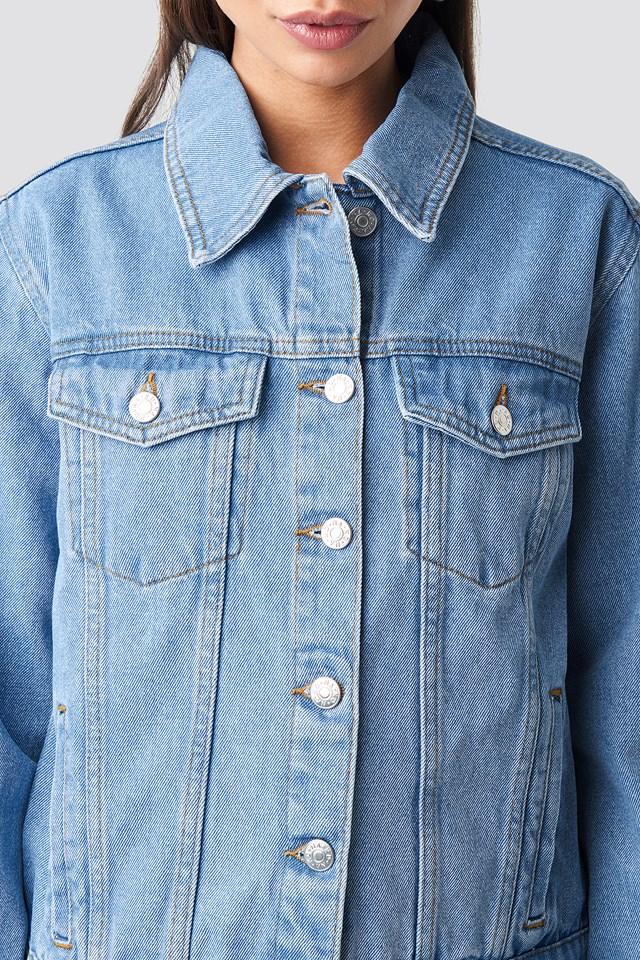 Regular Fit Denim Jacket NA-KD.COM