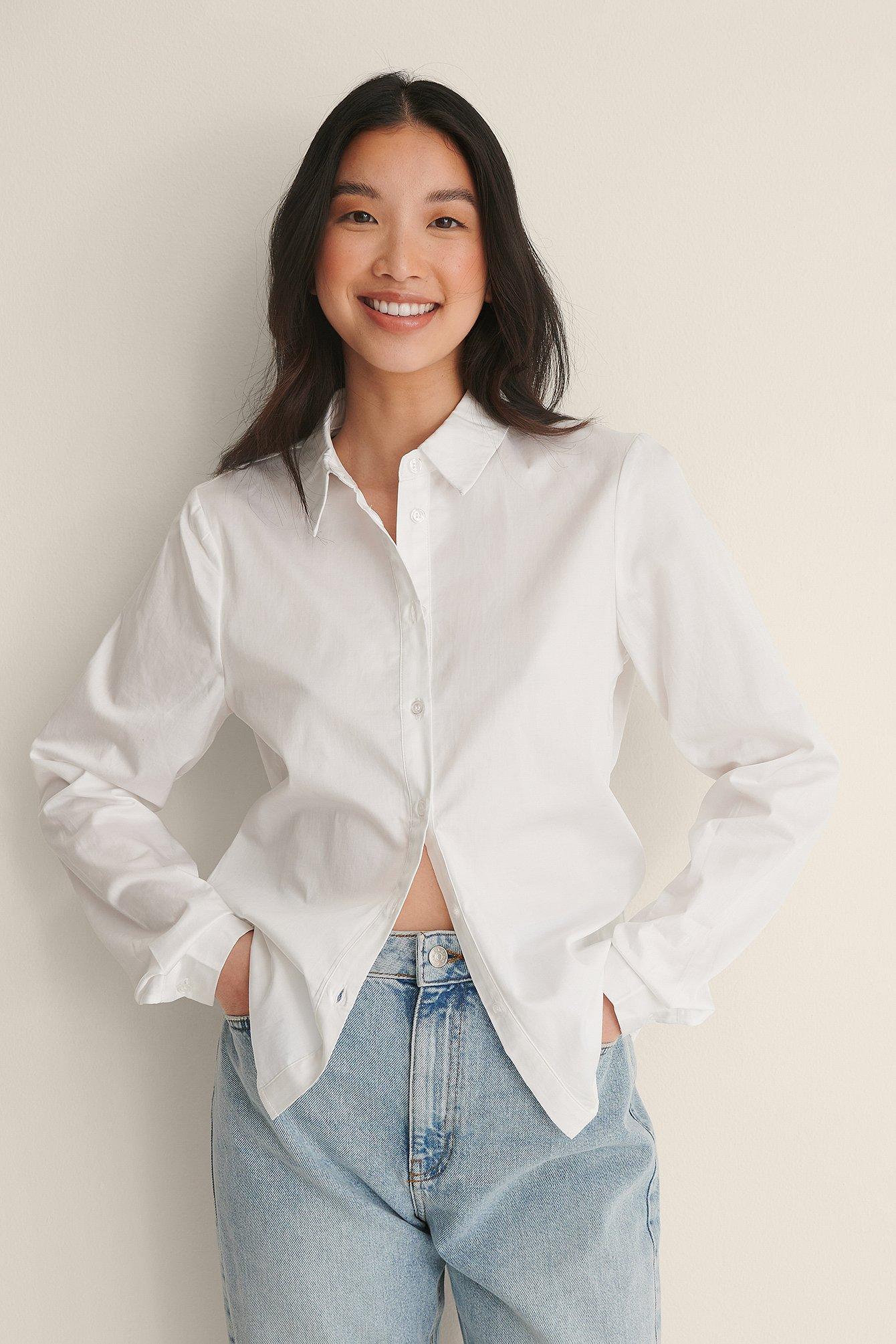 Na-kd Classic Organic Regular Shirt - White