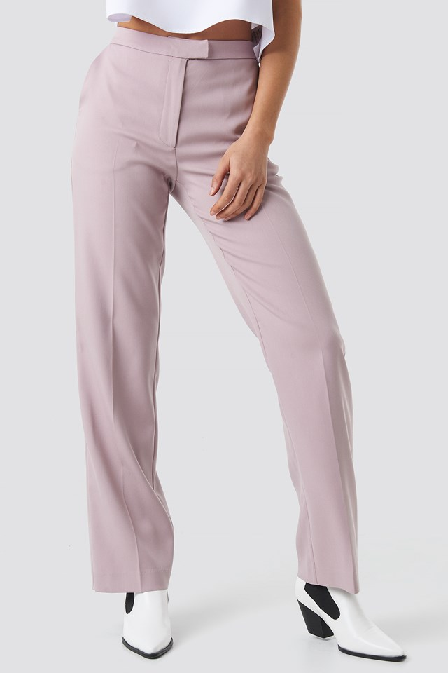 Regular Straight Suit Pants Lilac