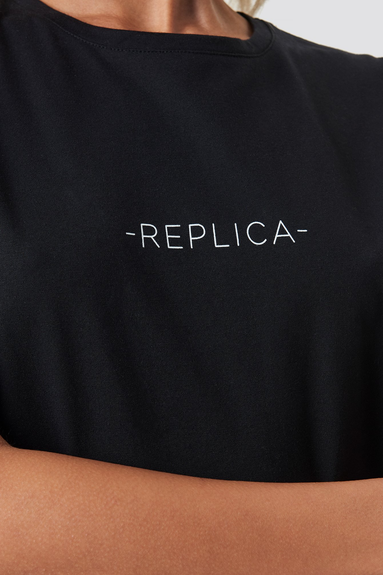 Black Replica Oversized Tee