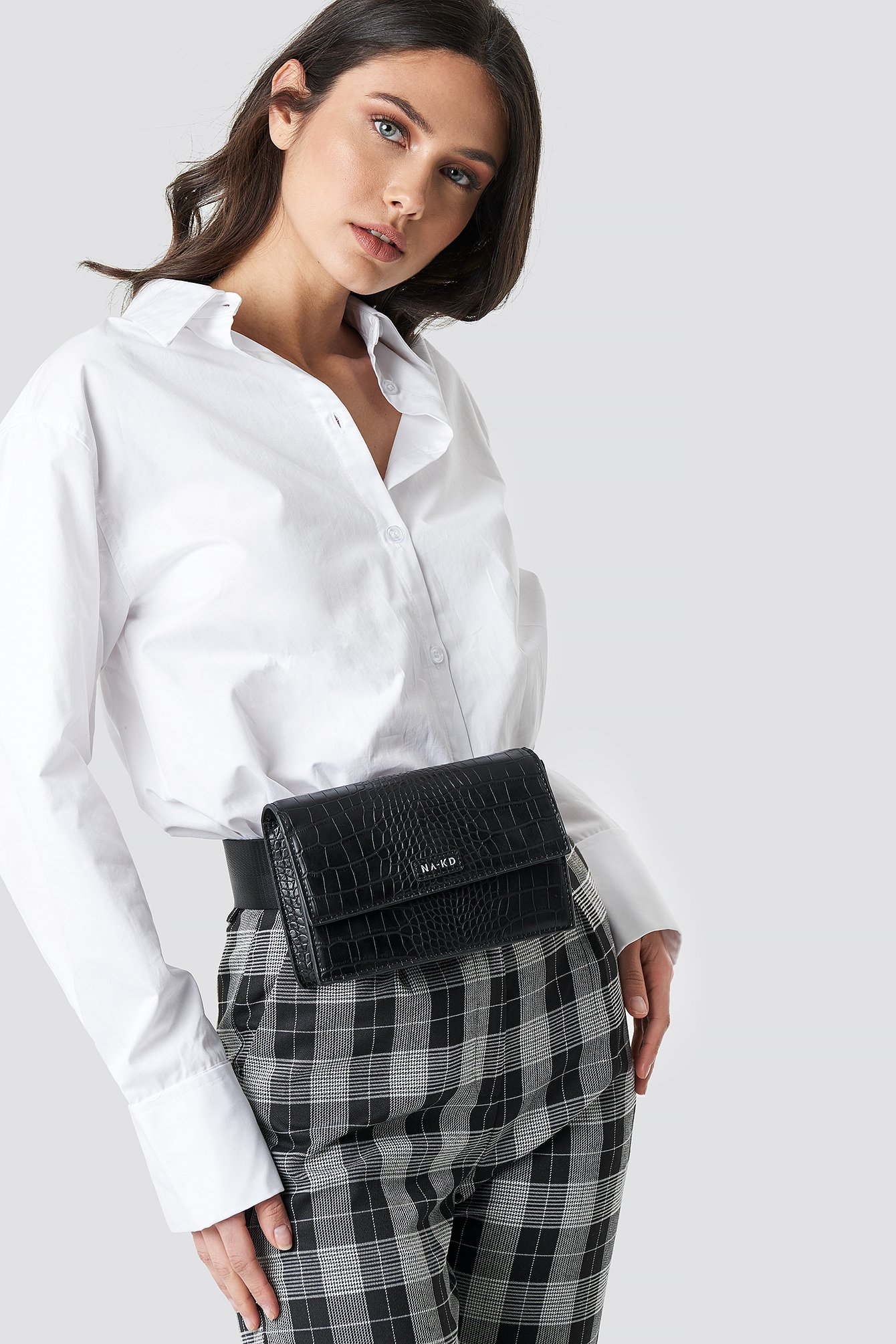 na-kd accessories -  Reptile Look Belt Bag - Black