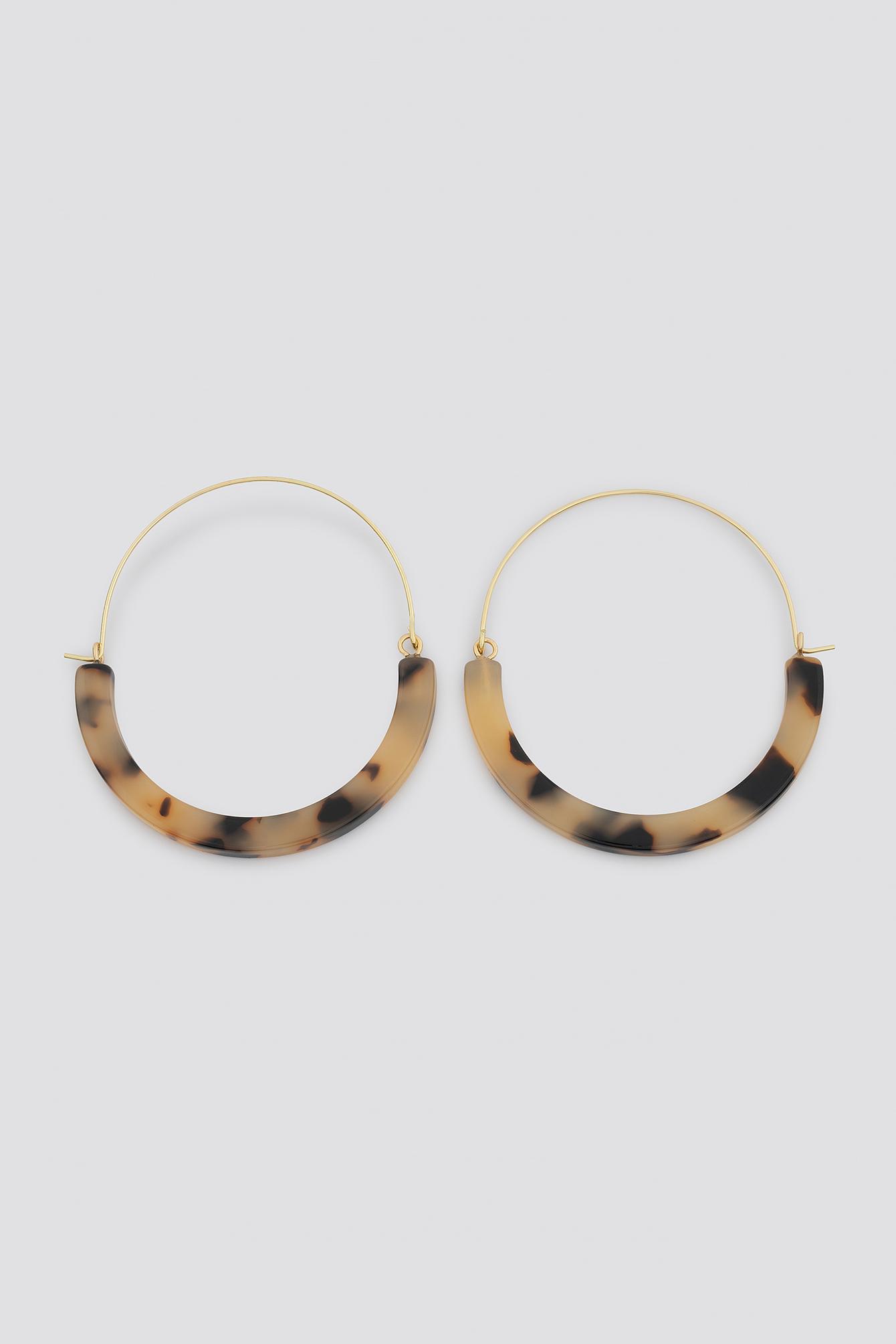 Resin Detailed Hoop Earrings NA-KD.COM