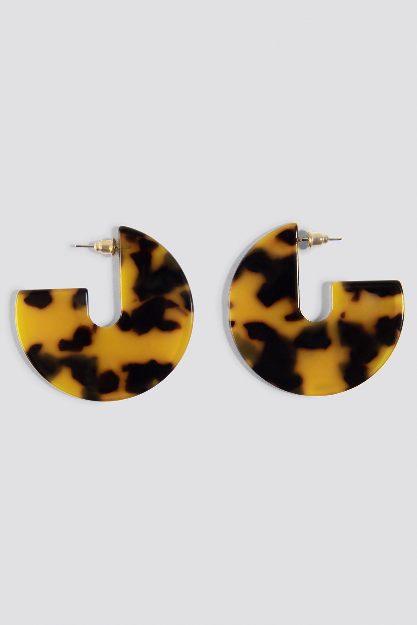 Resin Look Hoop Earrings NA-KD.COM