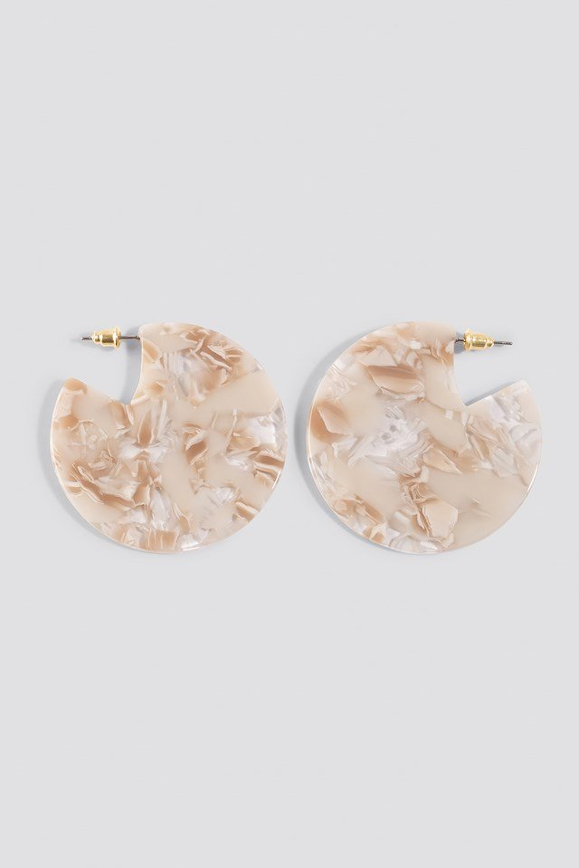 Resin Plate Earrings NA-KD Accessories