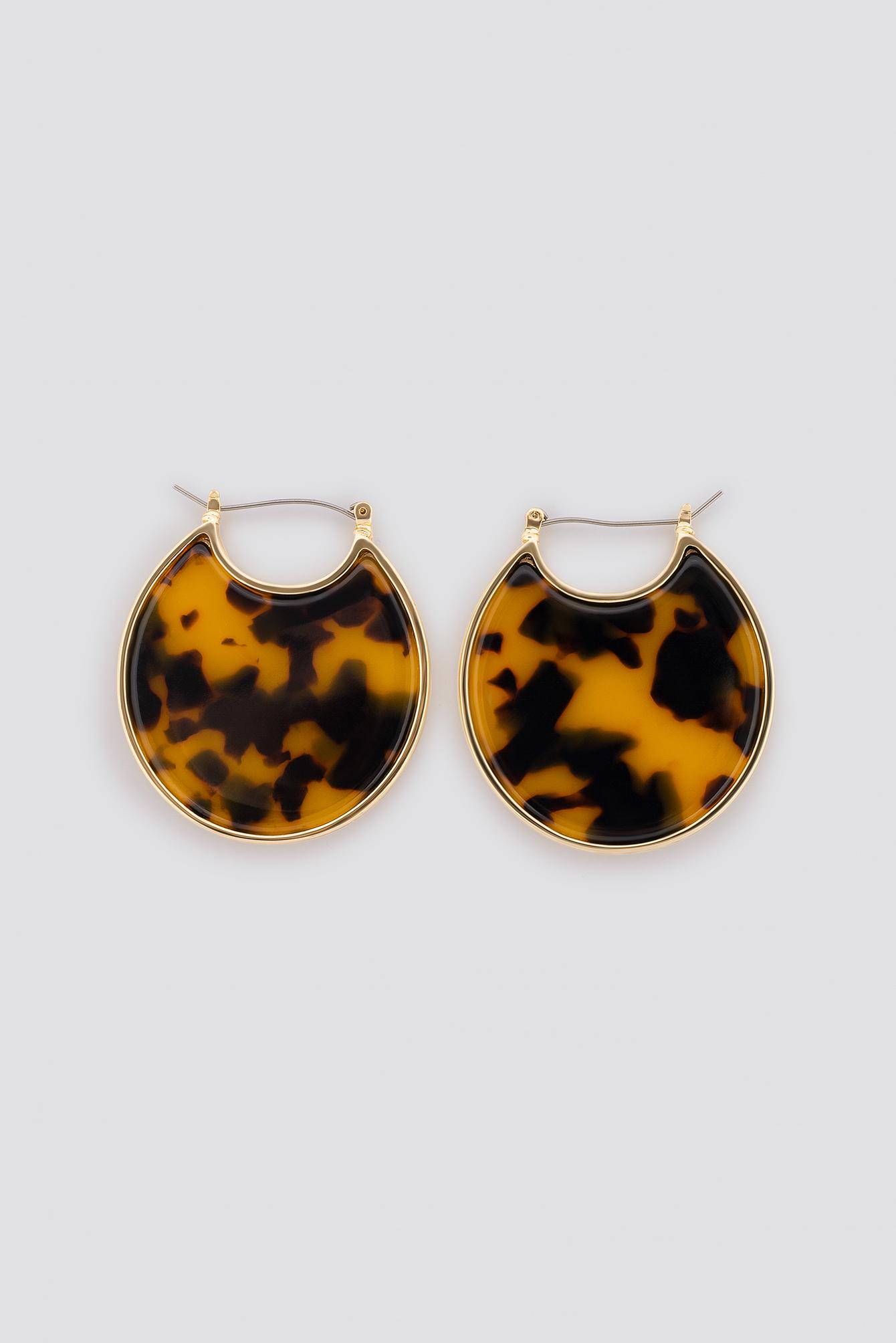 Resin Plate Earrings NA-KD.COM