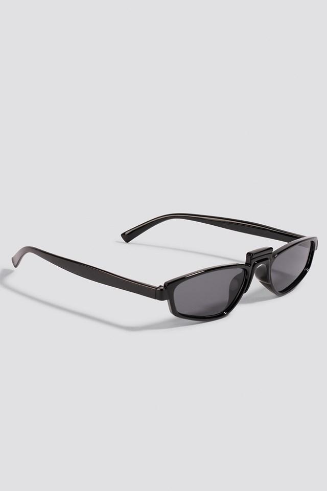 Retro Bridge Sunglasses Black