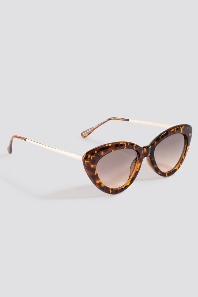 Retro Cat Eye Sunglasses Tortoise