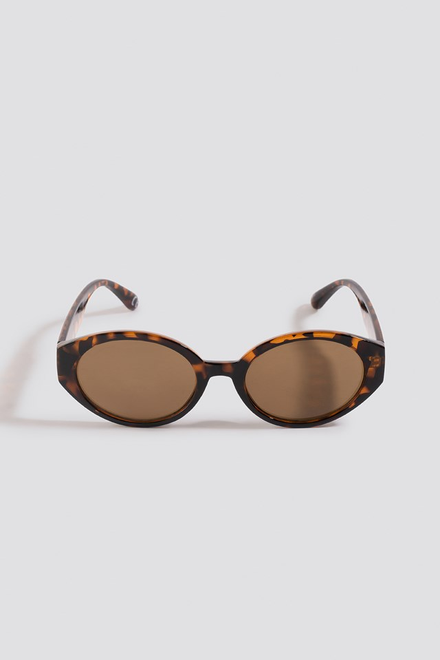 Retro Drop Shape Sunglasses Tortoise