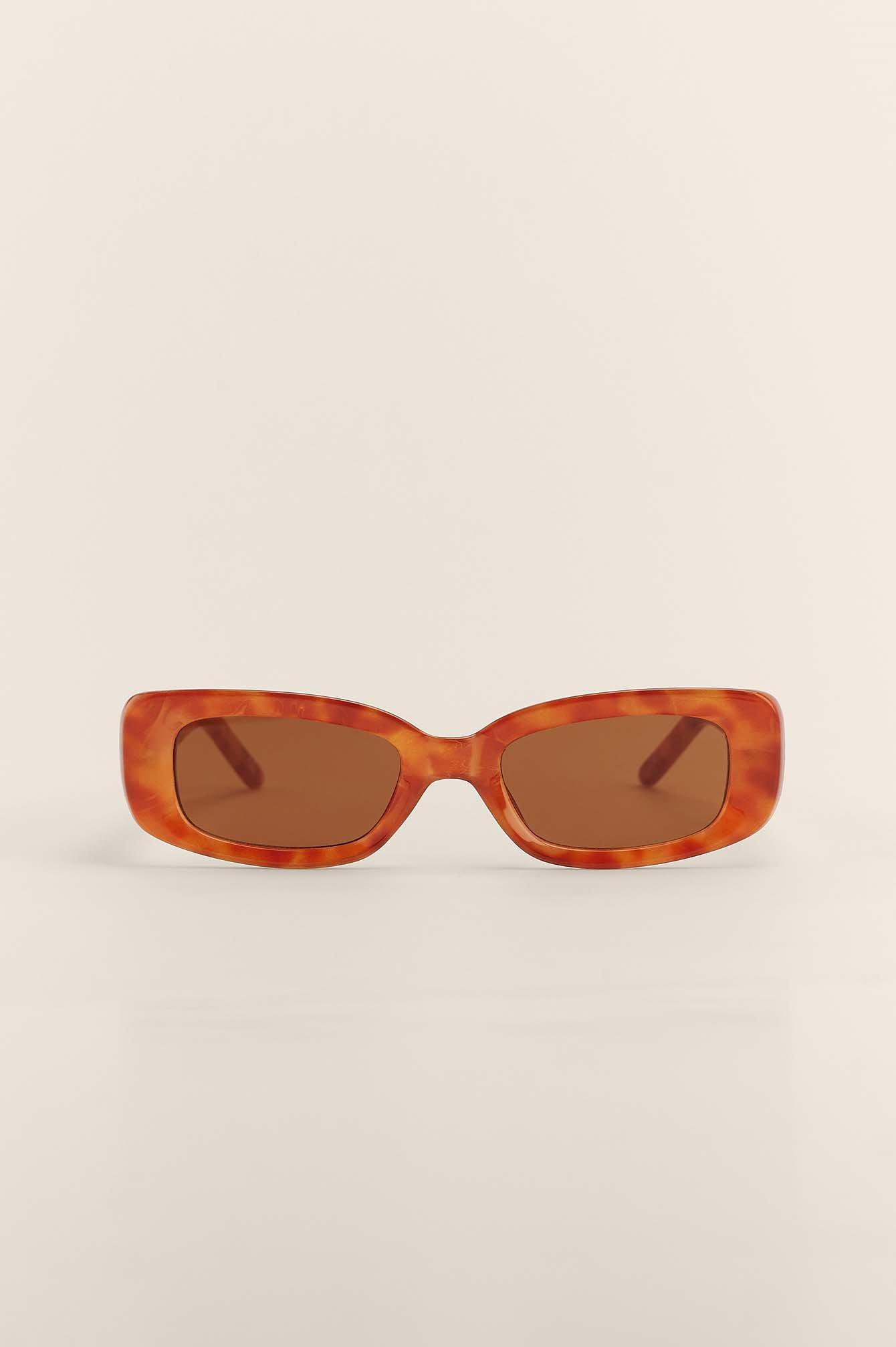 na-kd accessories -  Sonnenbrille Mit Retro-Brillengestell - Brown