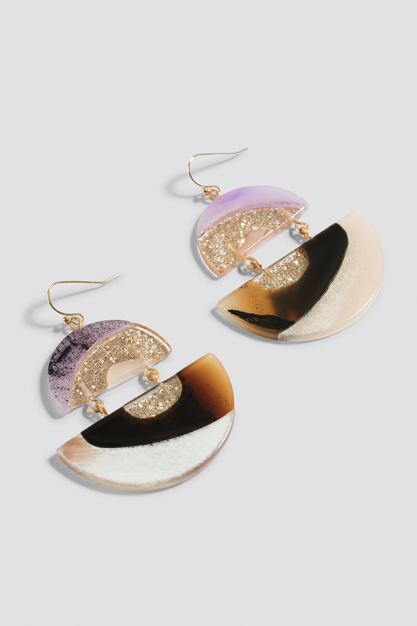 Retro Multicolor Halfmoon Earrings NA-KD.COM