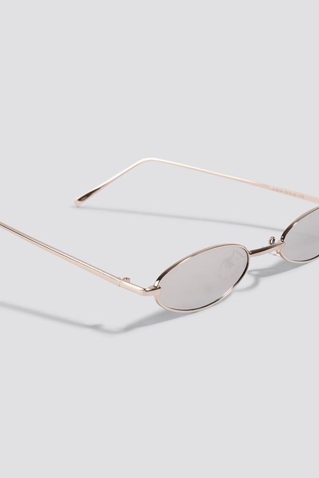 Retro Small Oval Sunglasses Silver