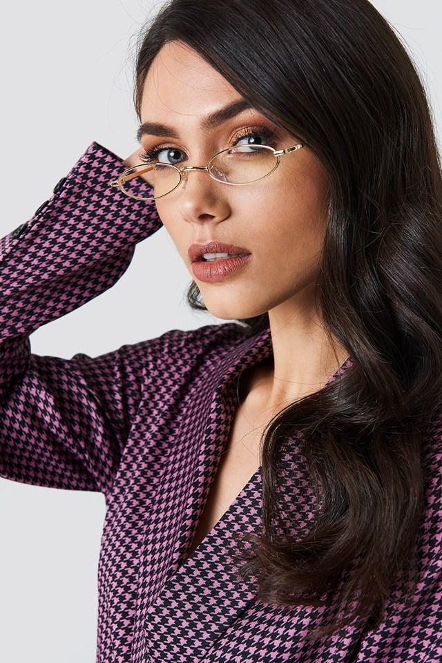 Retro Small Oval Sunglasses Transparent
