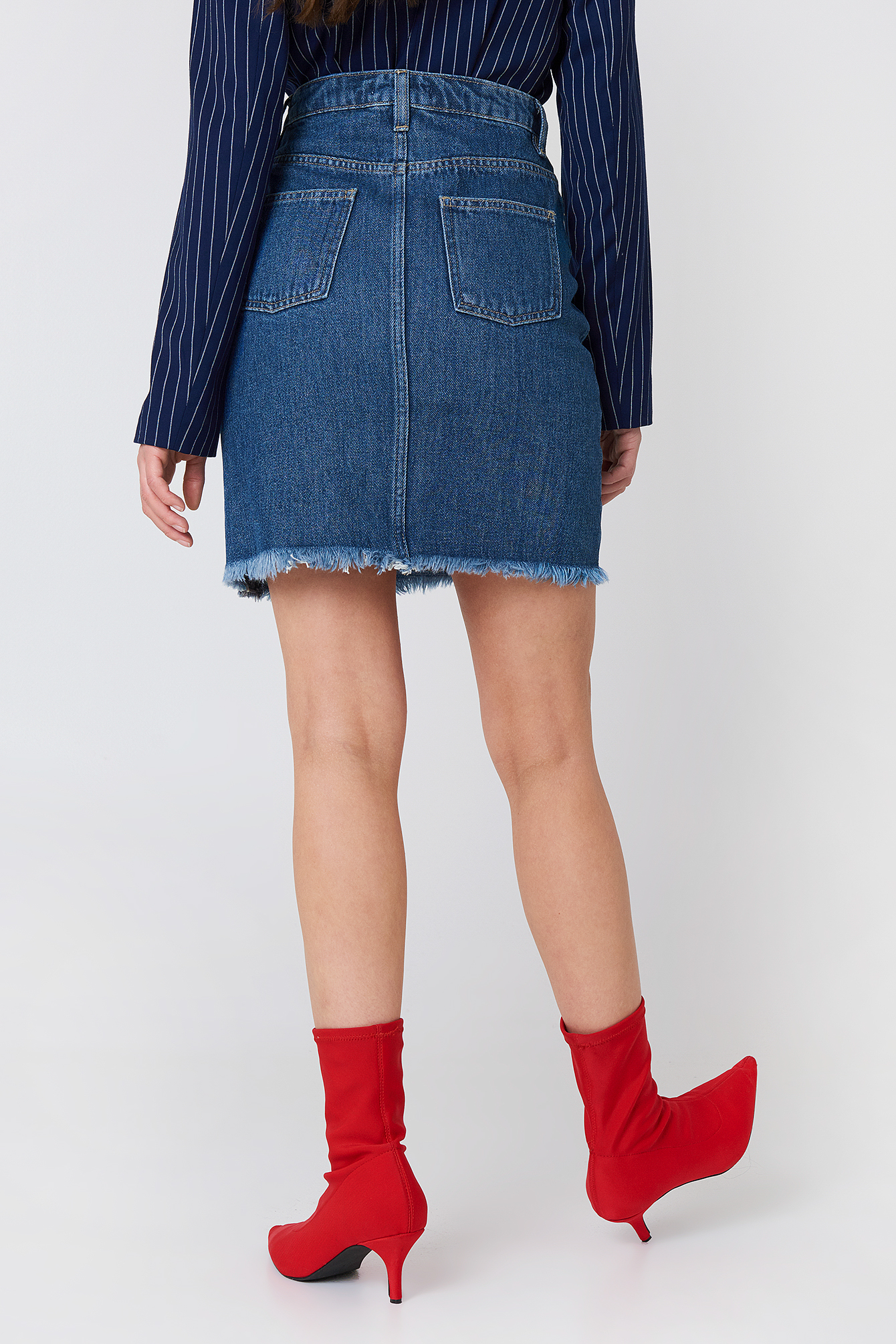 Reworked Denim Skirt NA-KD.COM