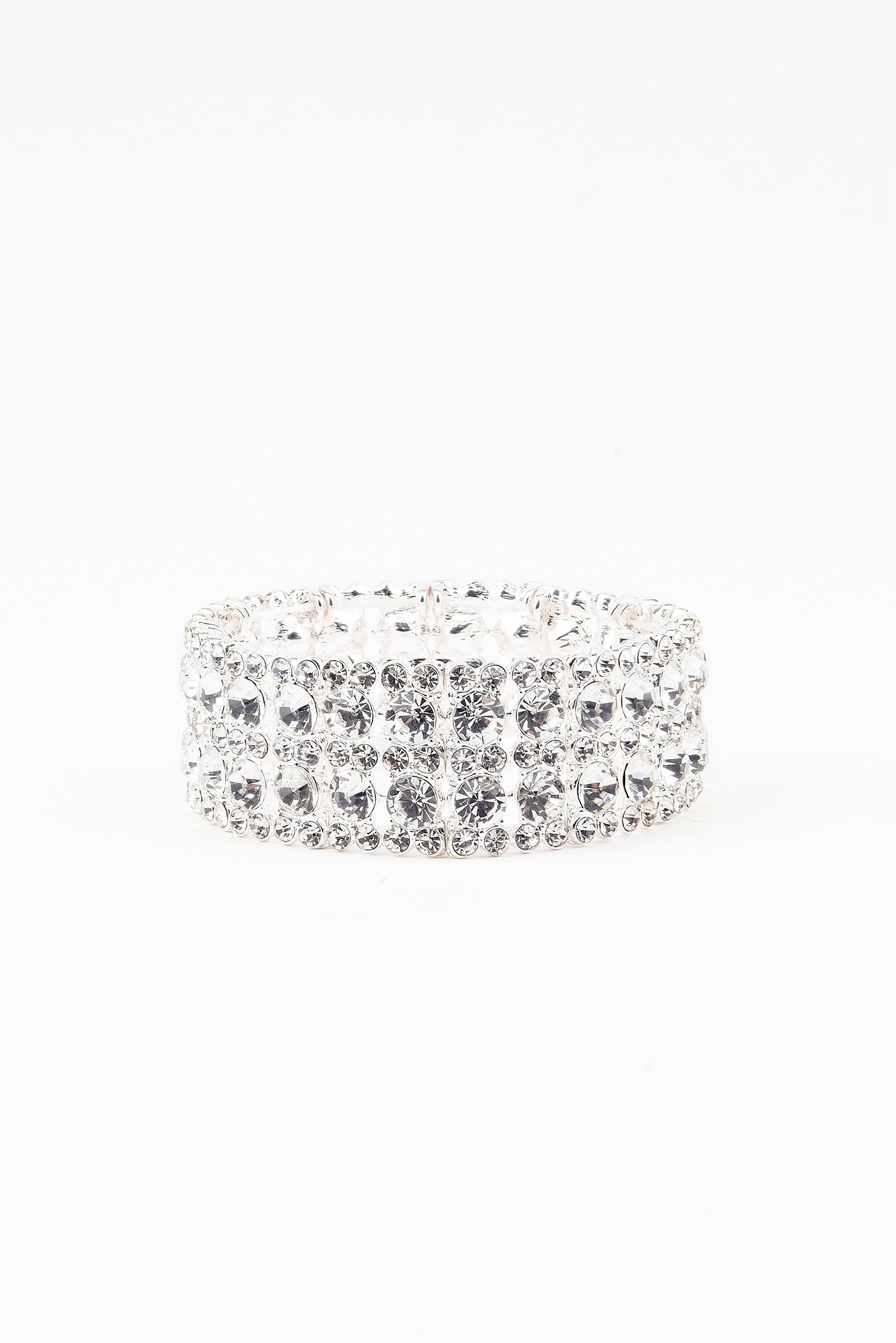 Wysadzana kryształami bransoletka na kostkę NA-KD.COM