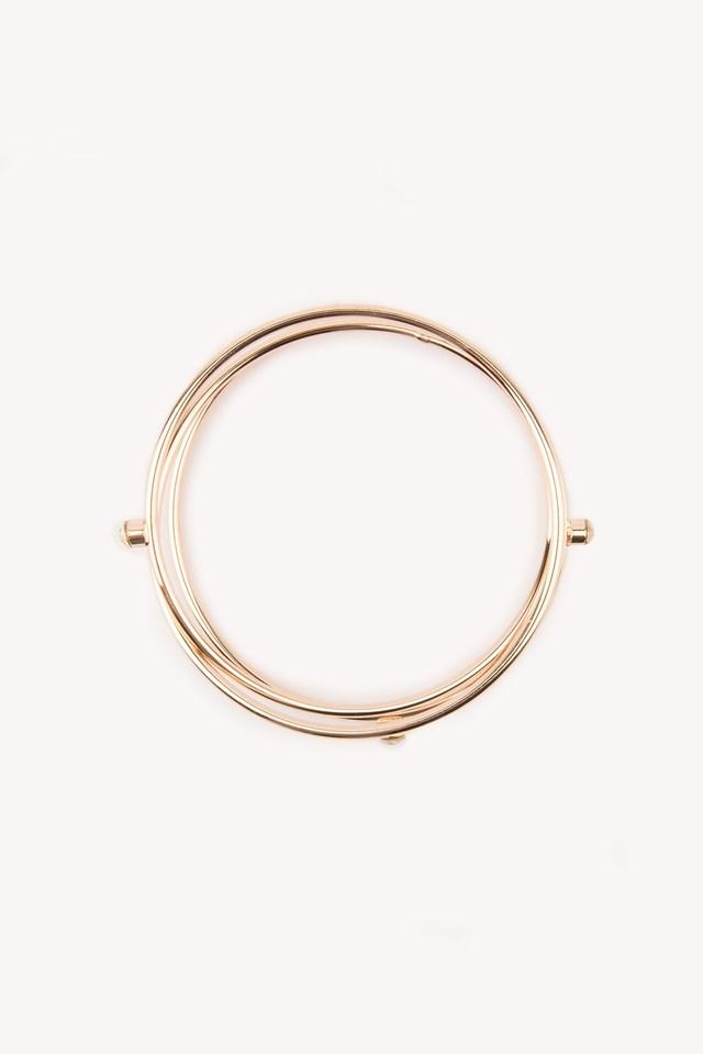 Rhinestone Arm Cuff Gold