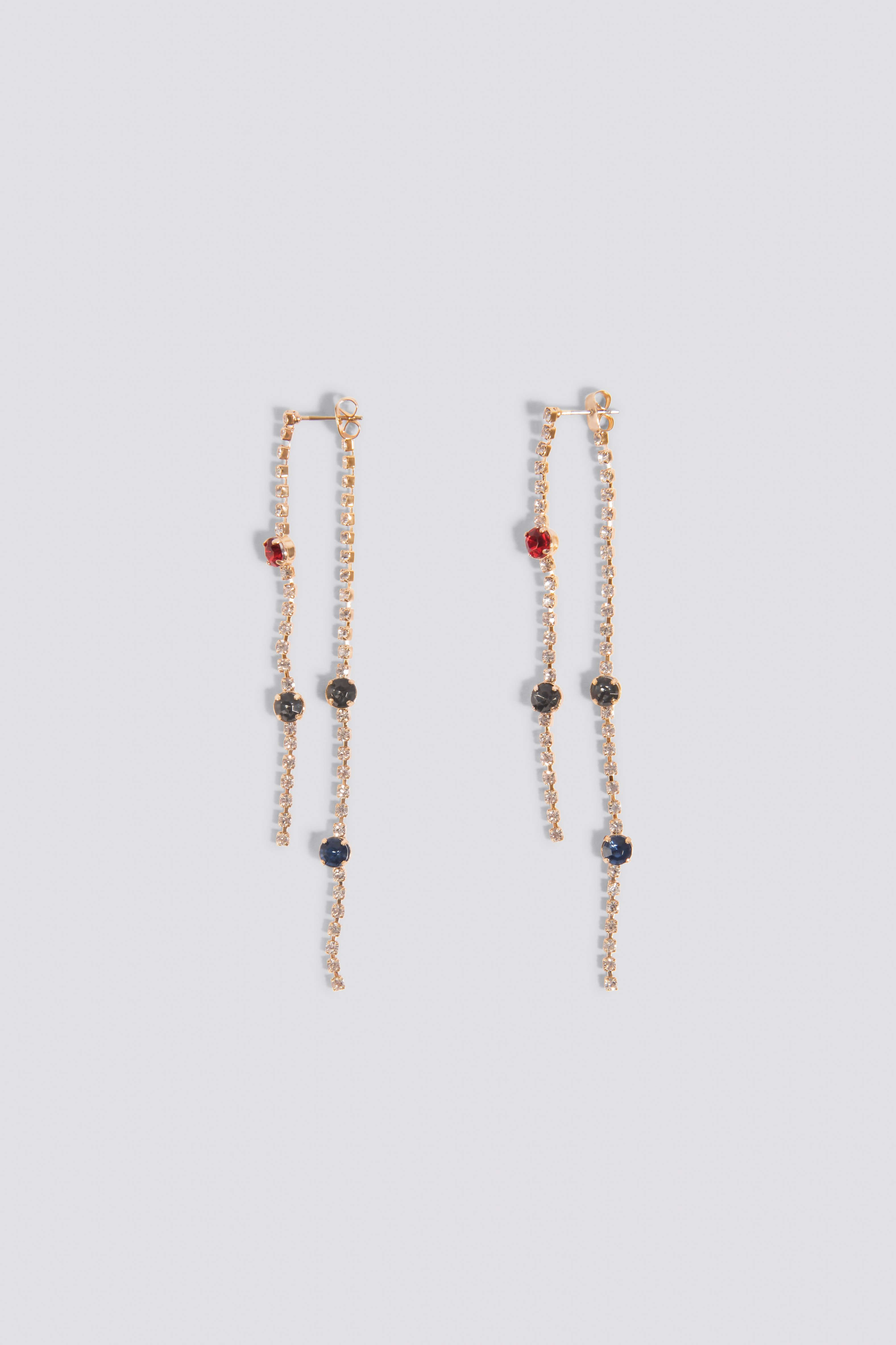 Rhinestone Back Chain Earrings NA-KD.COM