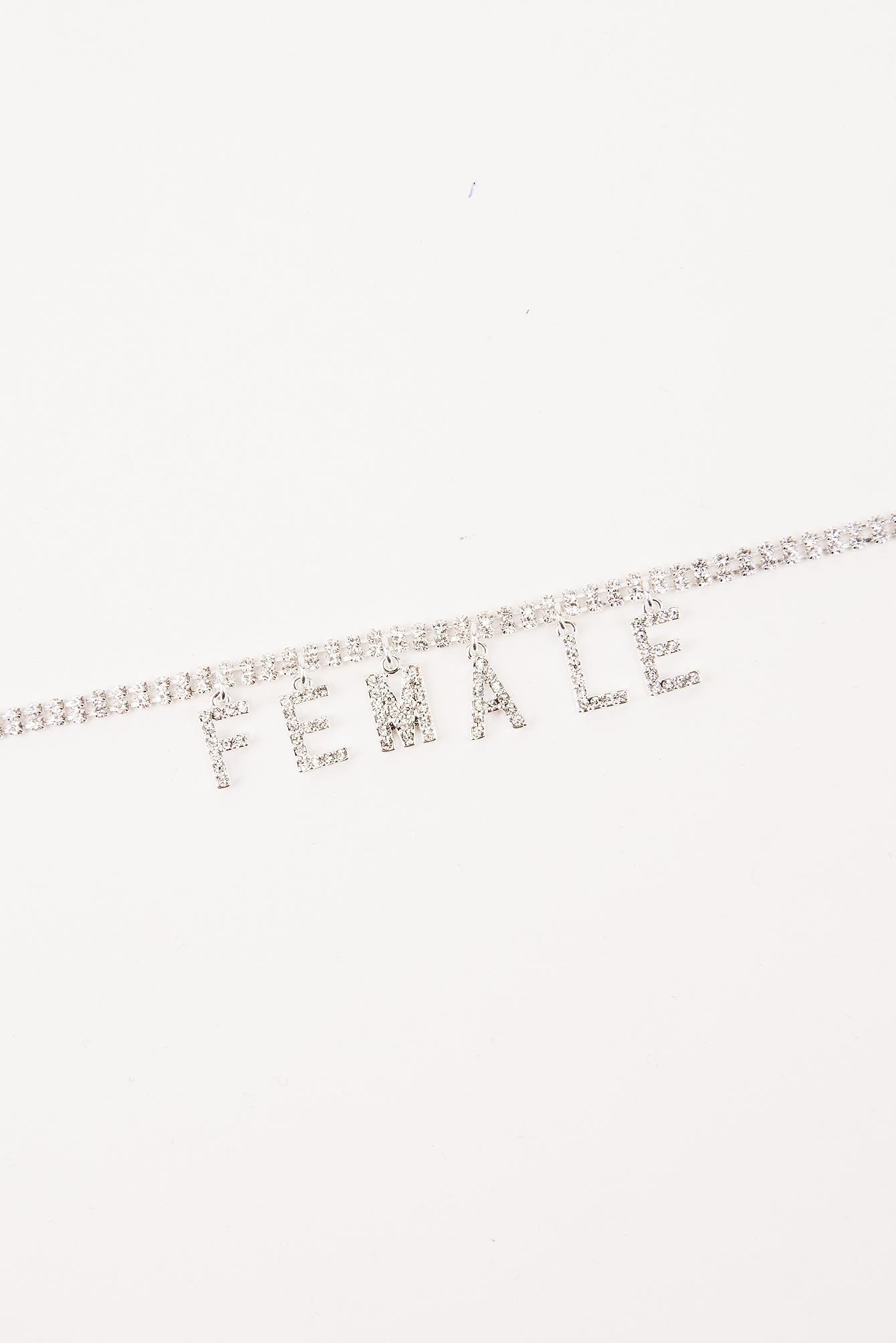 Wysadzana kryształami bransoletka na kostkę  Female NA-KD.COM