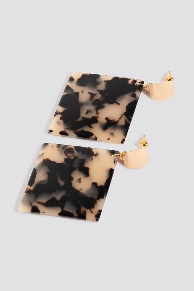 Rhombus Resin Drop Earrings NA-KD.COM