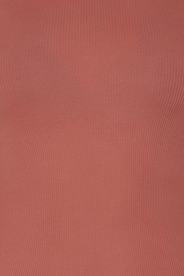 Rib Split Sleeve Top NA-KD.COM