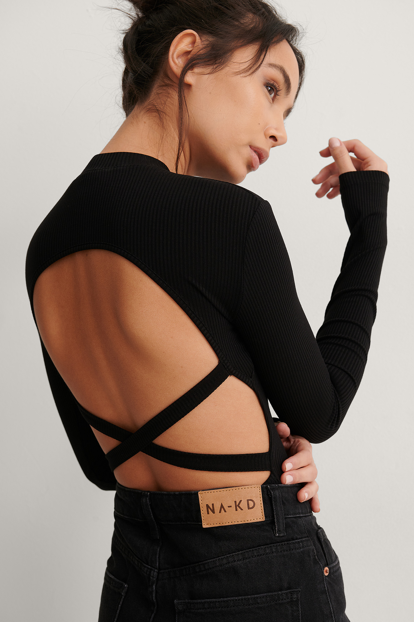 Black Rib Strap Detail Body