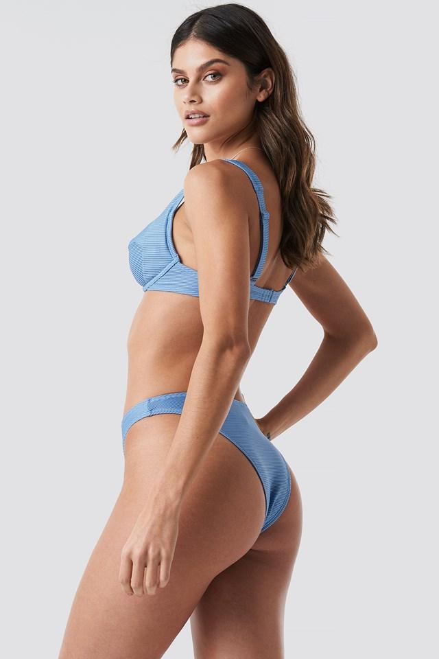 Ribbed Bikini Cup bra Dusty Blue
