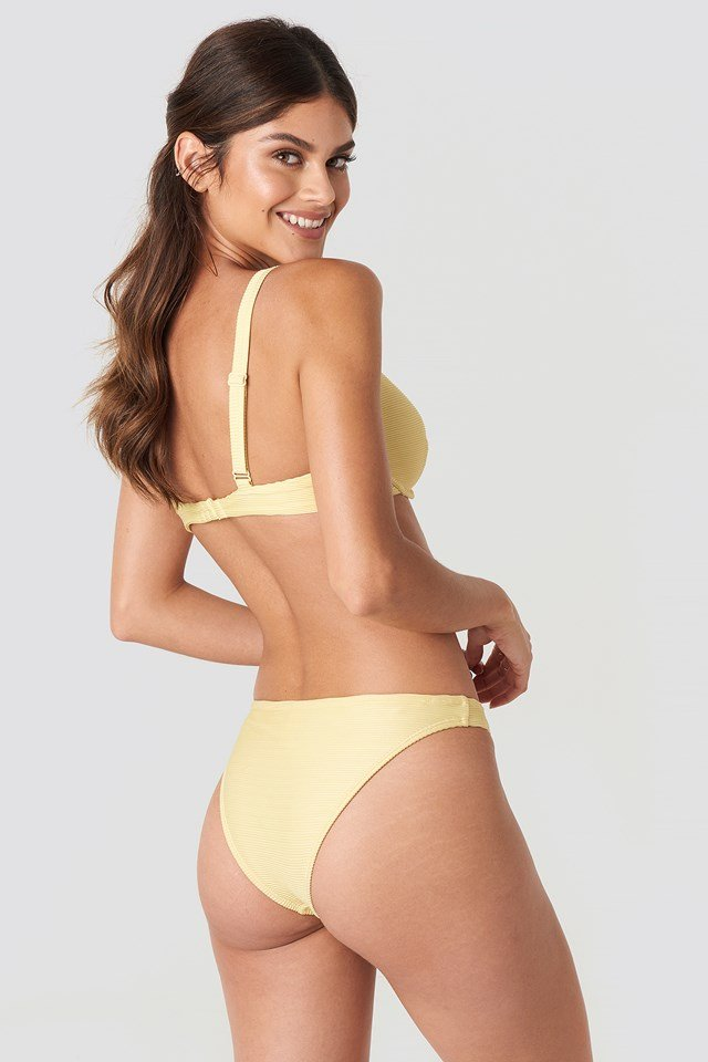 Ribbed Bikini Panty Light Yellow