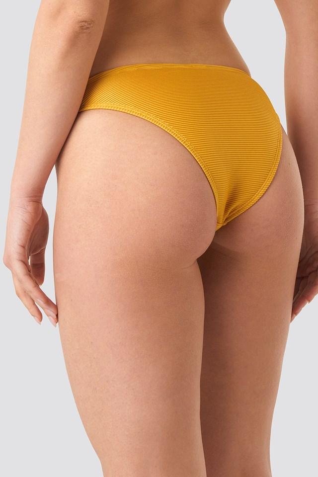 Ribbed Bikini Panty Golden Yellow