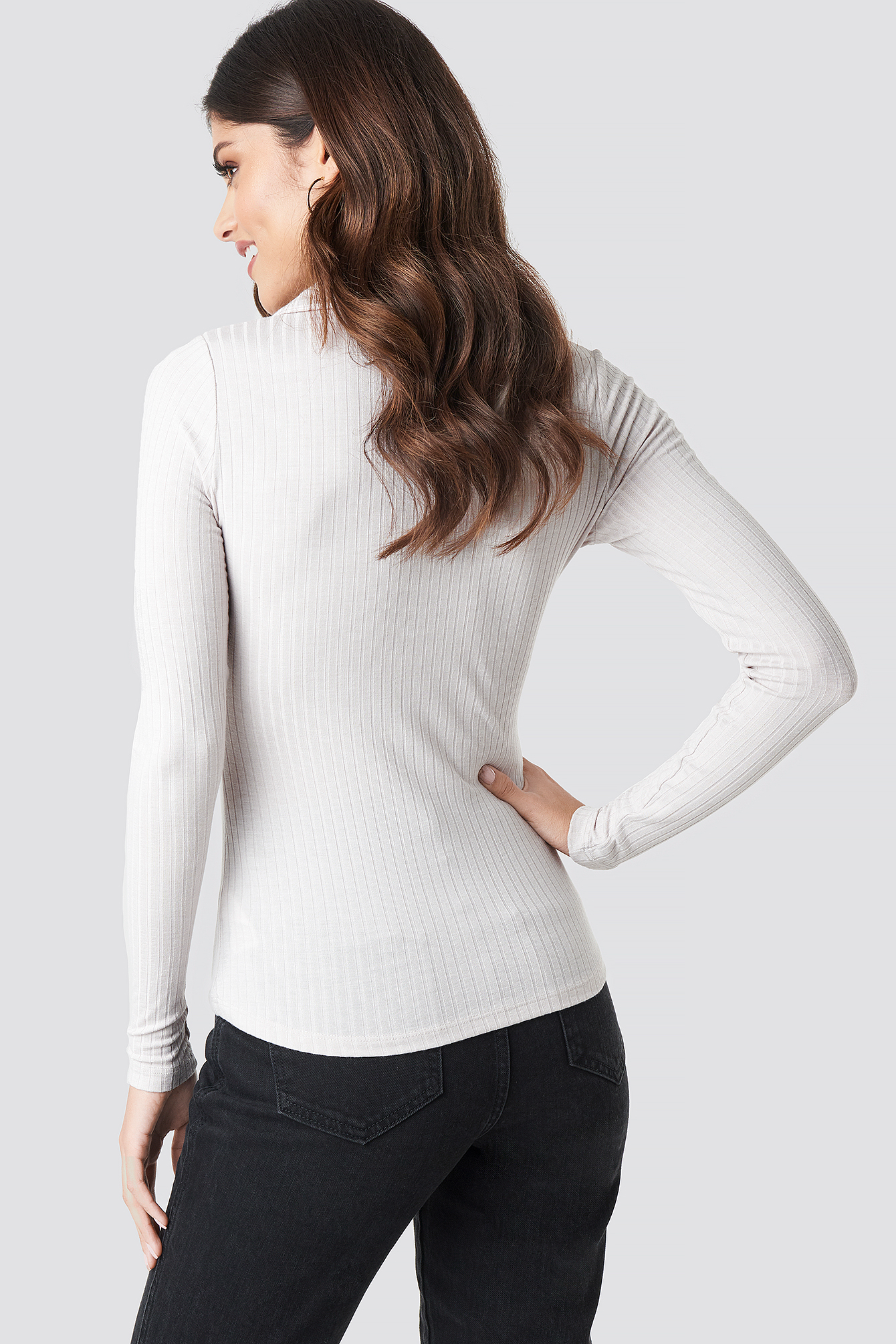 Ribbed Button Top NA-KD.COM