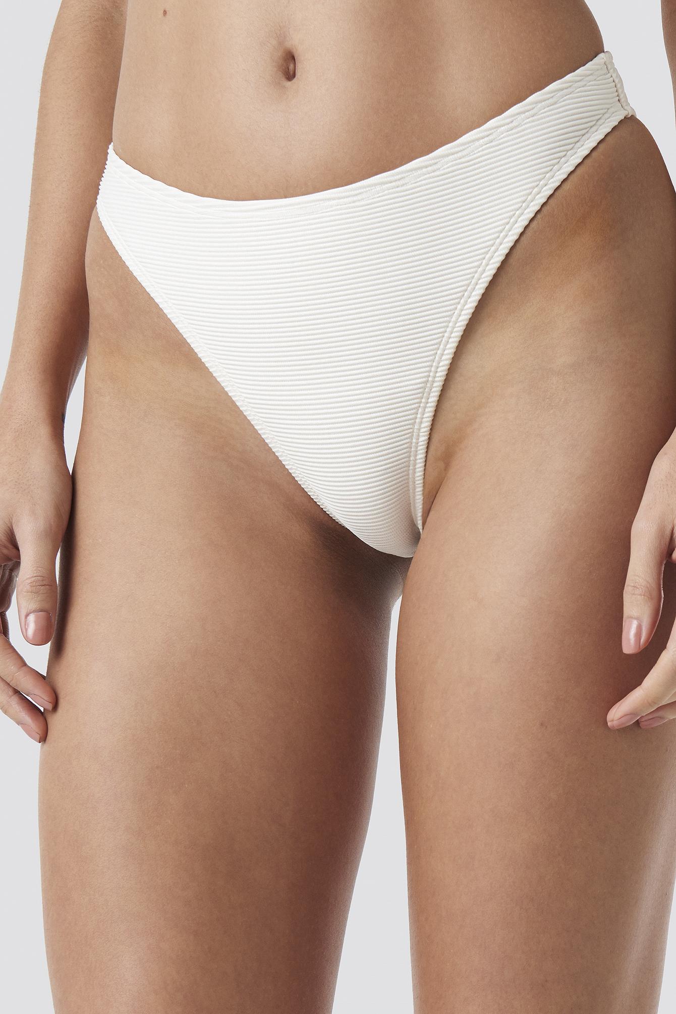 Ribbed High Cut Panty  NA-KD.COM
