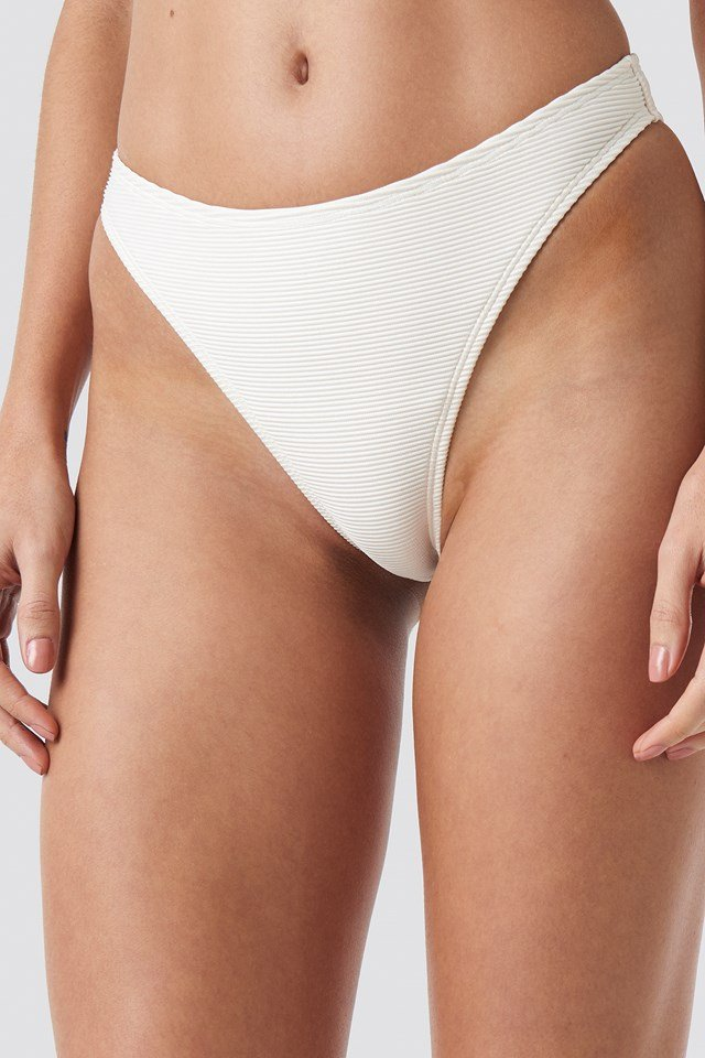 Ribbed High Cut Panty Offwhite