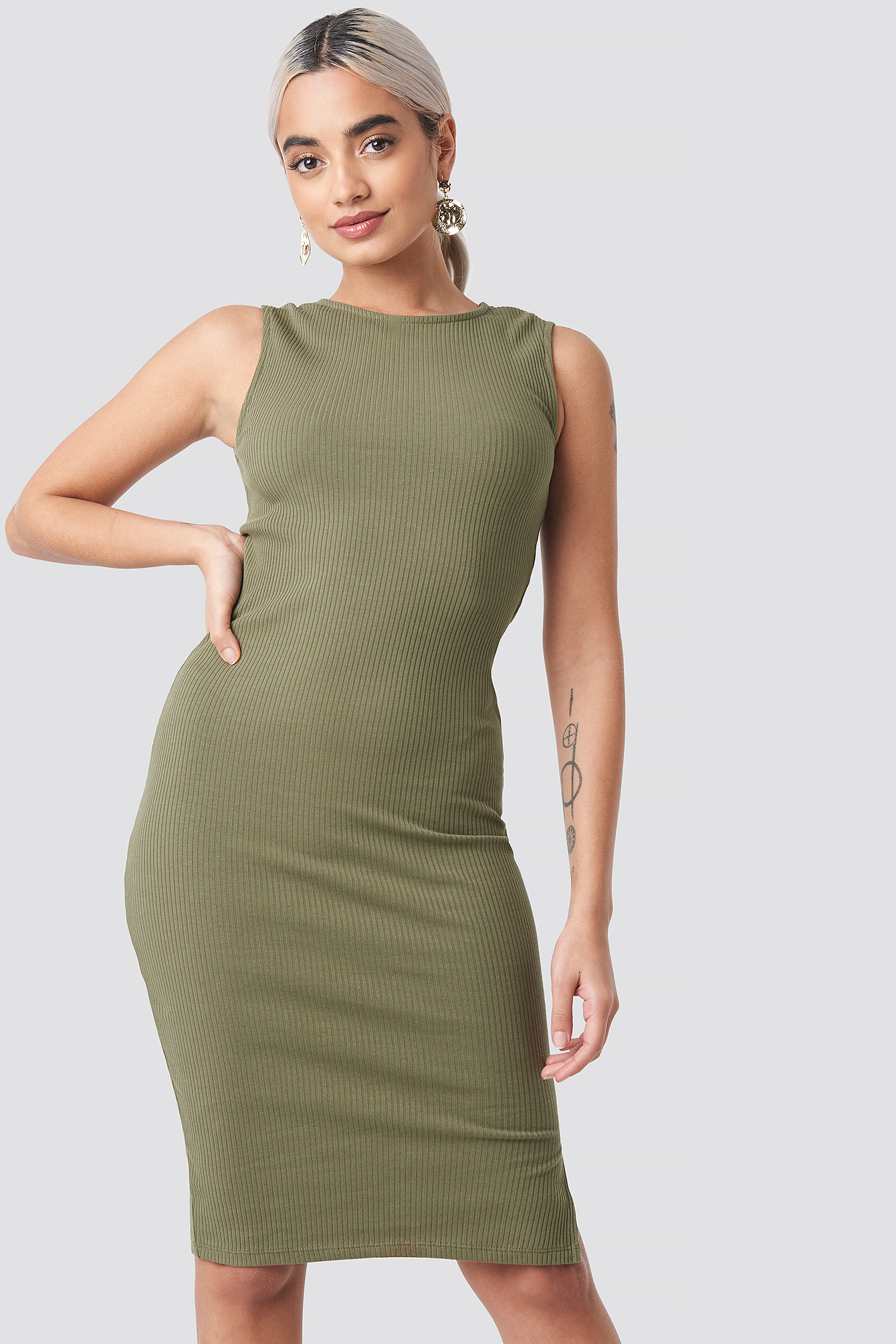 Ribbed Jersey Dress NA-KD.COM