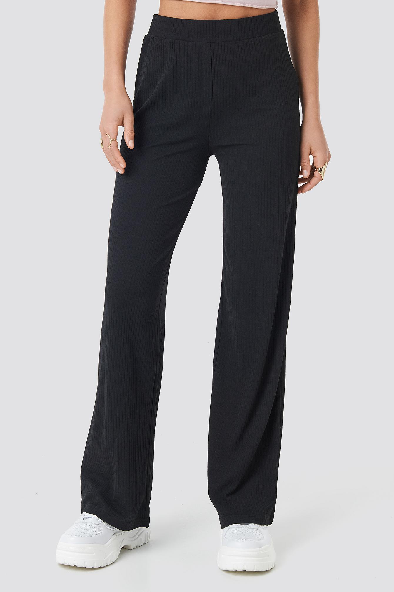 Ribbed Jersey Pants NA-KD.COM