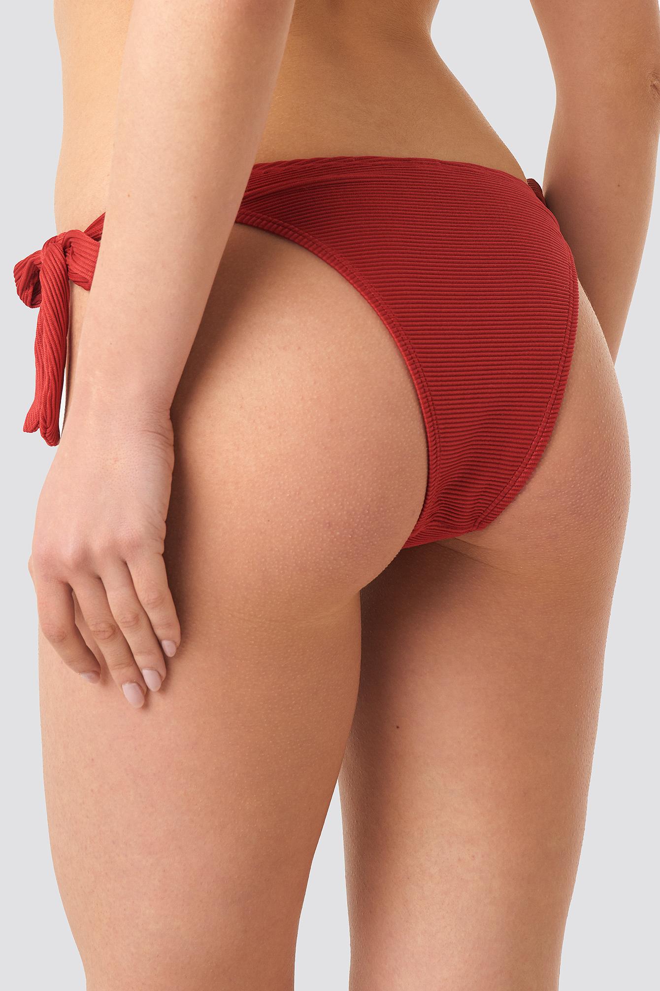Ribbed Knot Bikini Panty NA-KD.COM