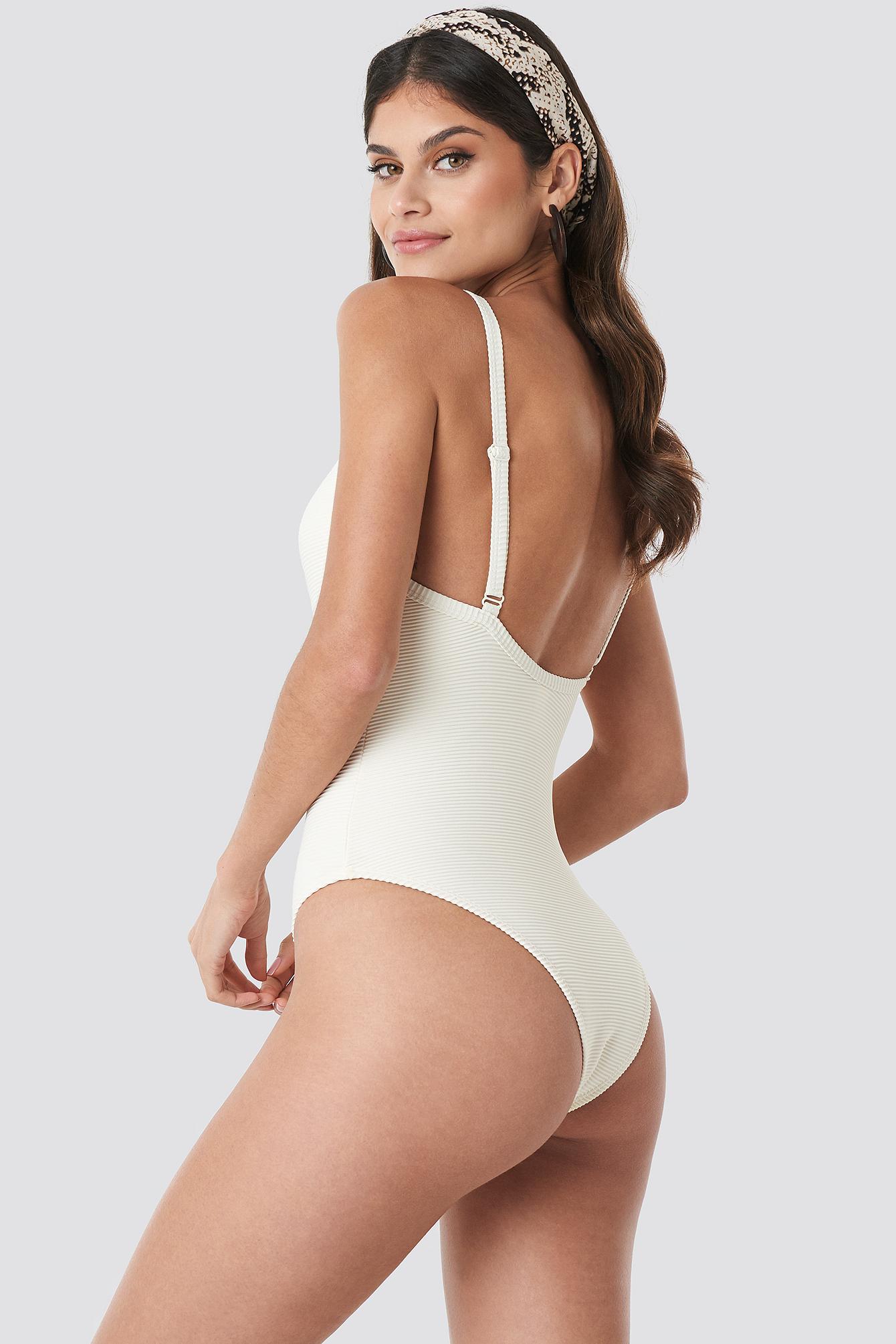 Ribbed O-ring Swimsuit NA-KD.COM