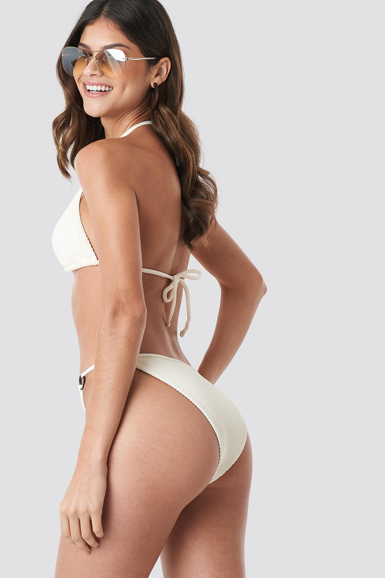 Ribbed O-ring Triangle Bikini Top NA-KD.COM