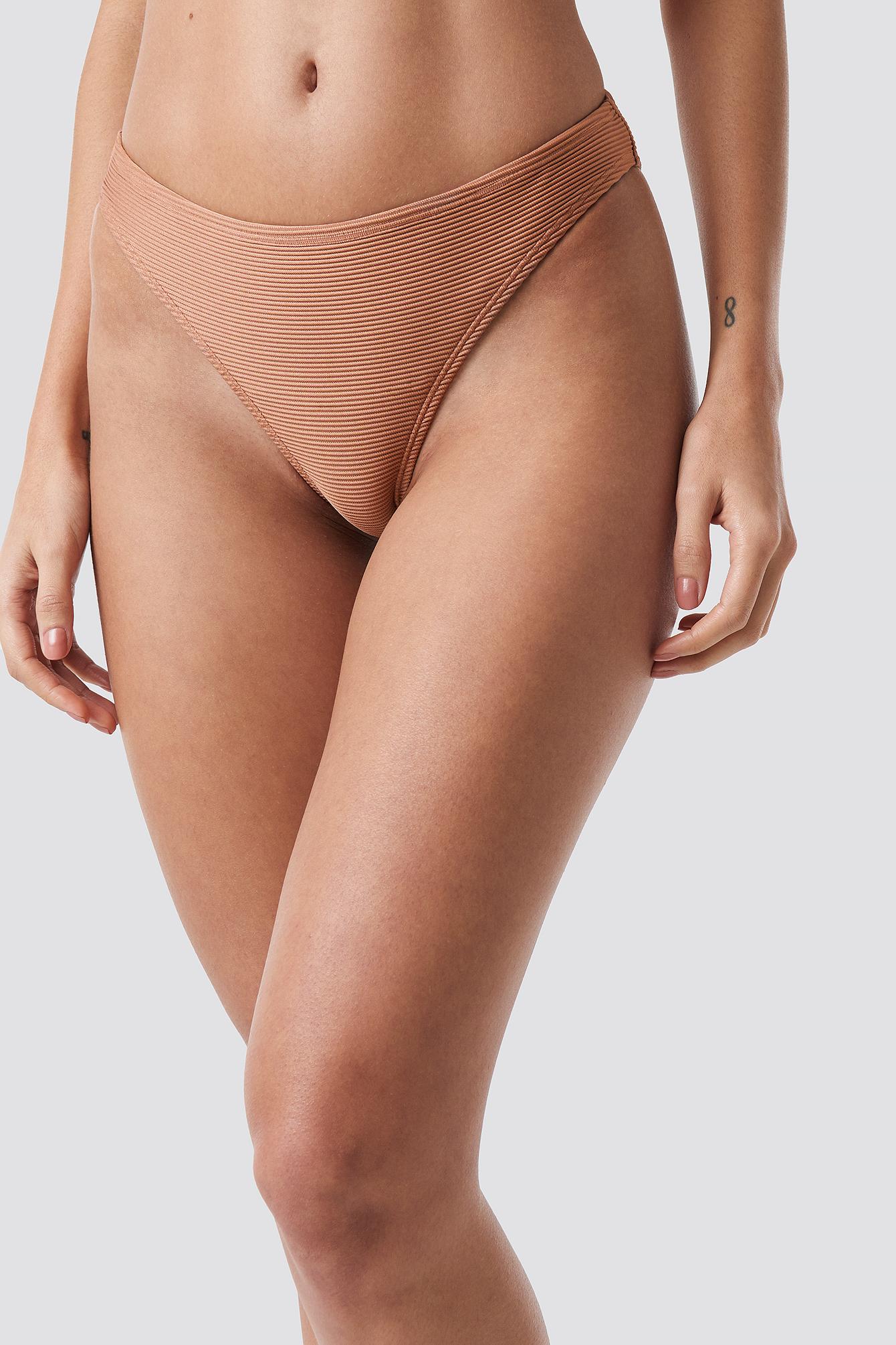 Ribbed Sporty Bikini Bottom NA-KD.COM