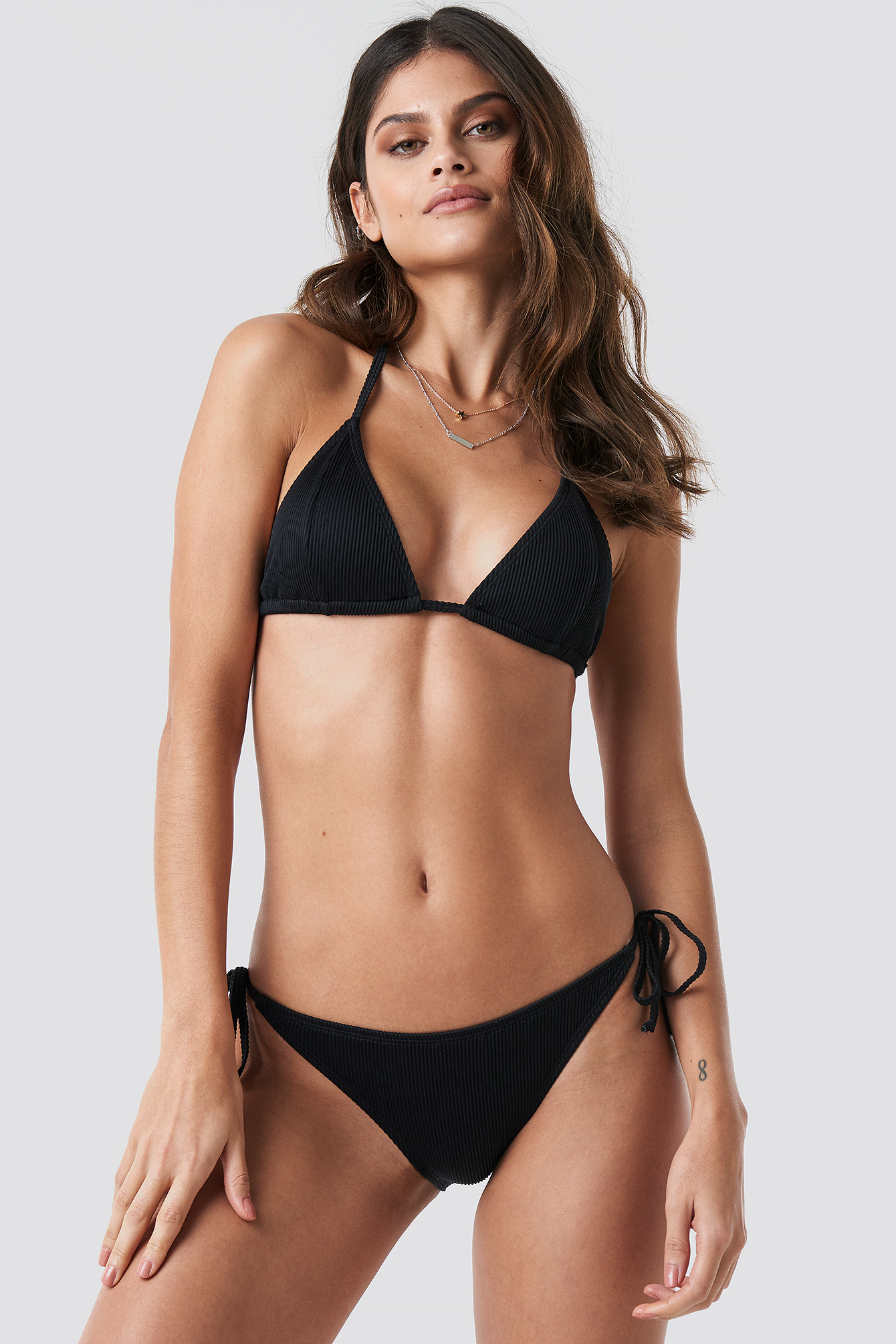 Ribbed Triangle Bikini Top NA-KD.COM