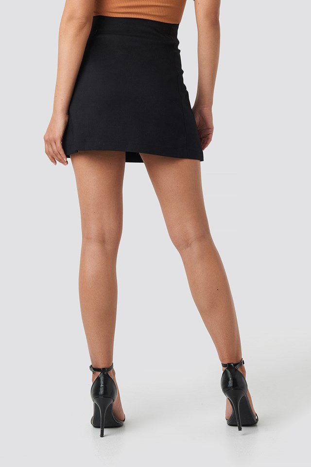 Ring Puller A-Line Mini Skirt Black