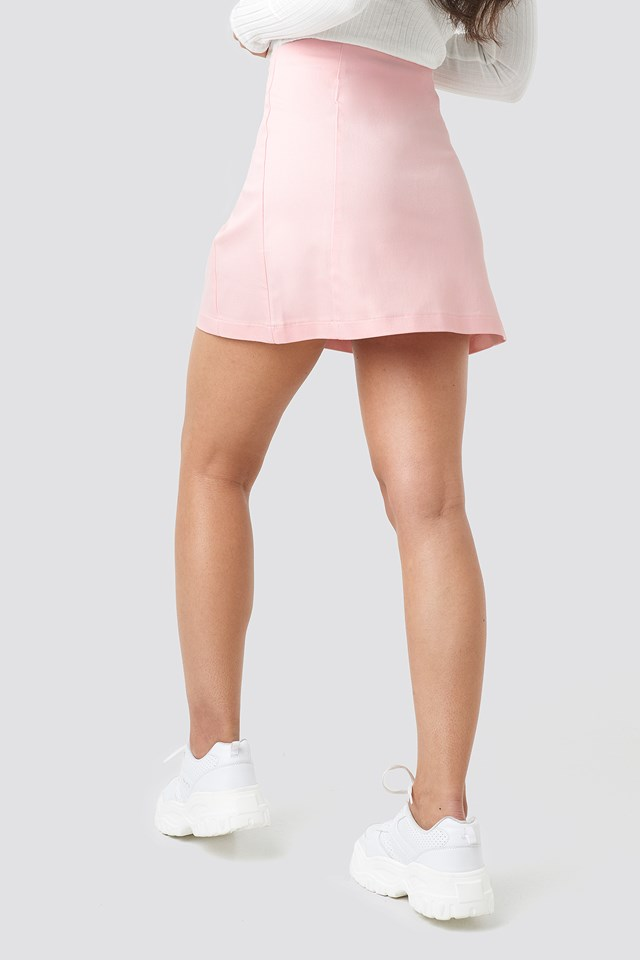 Ring Puller A-Line Mini Skirt Pink