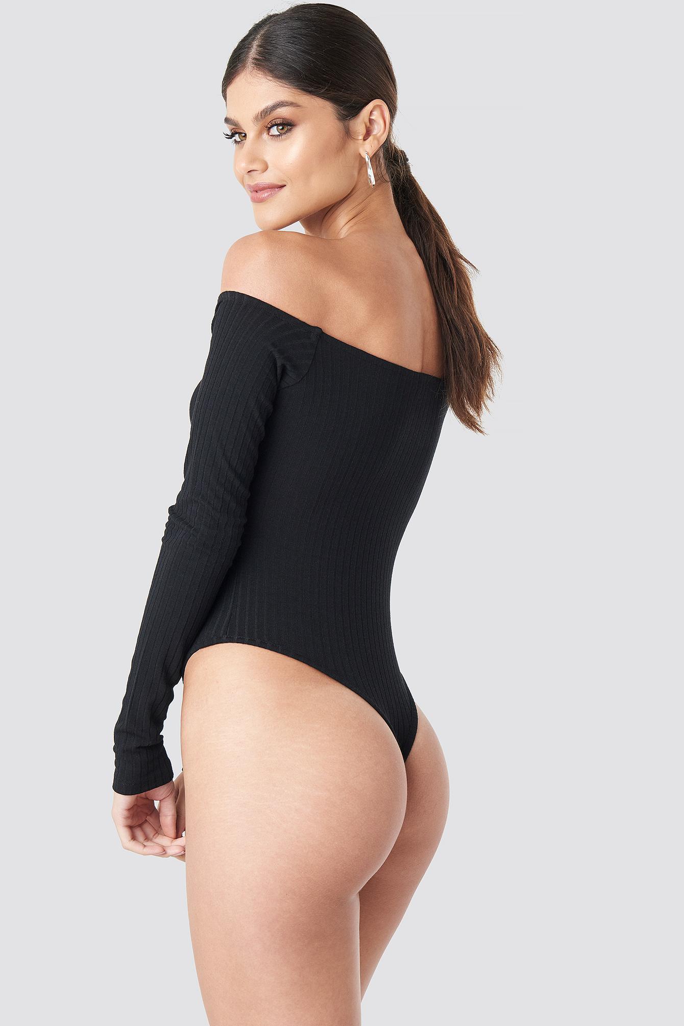 Ribbed Off Shoulder Body NA-KD.COM