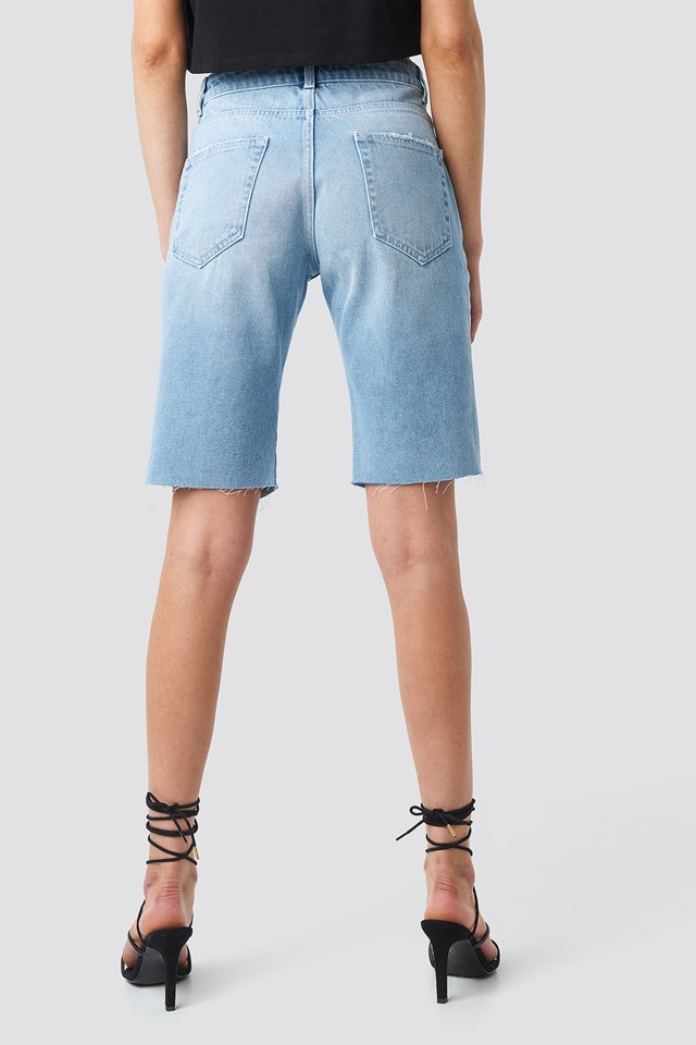 Ripped Shorts Light Blue Wash