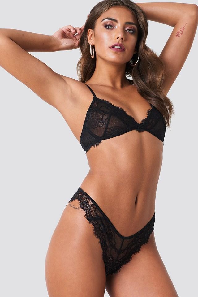 Romantic Lace Panty Black