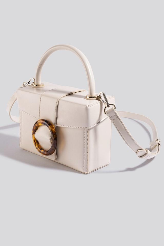 Round Buckle Box Bag Gloss Offwhite