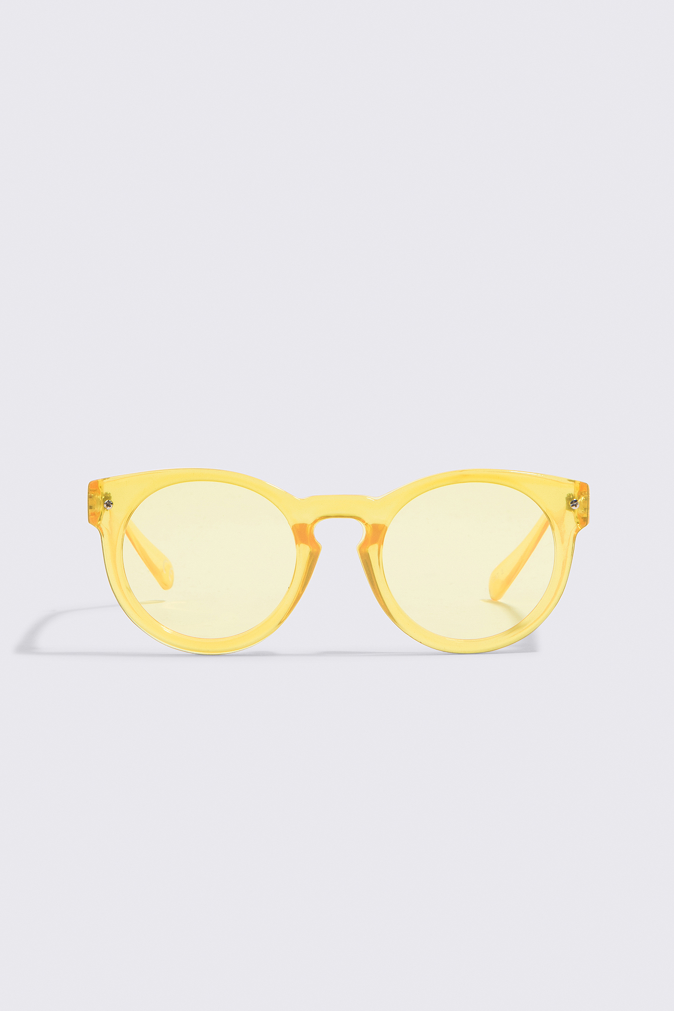 NA-KD Accessories Round Colored Sunglasses - Yellow lP53yx