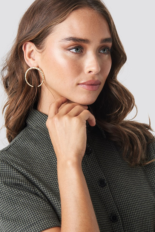 Round Crescent Earrings NA-KD Accessories
