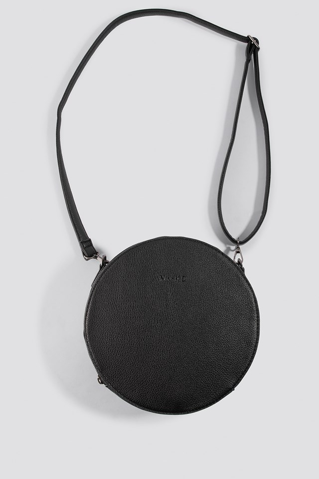Round Crossbody Bag Black