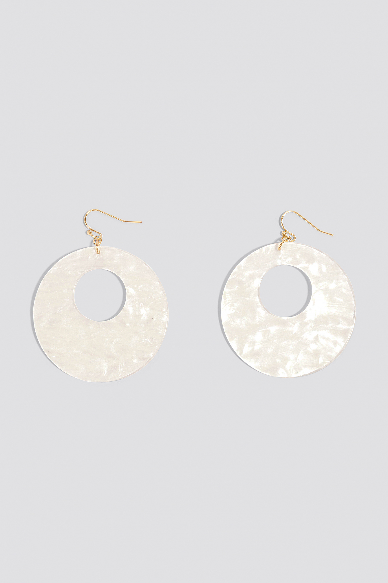 Round Hanging Resin Earrings NA-KD.COM