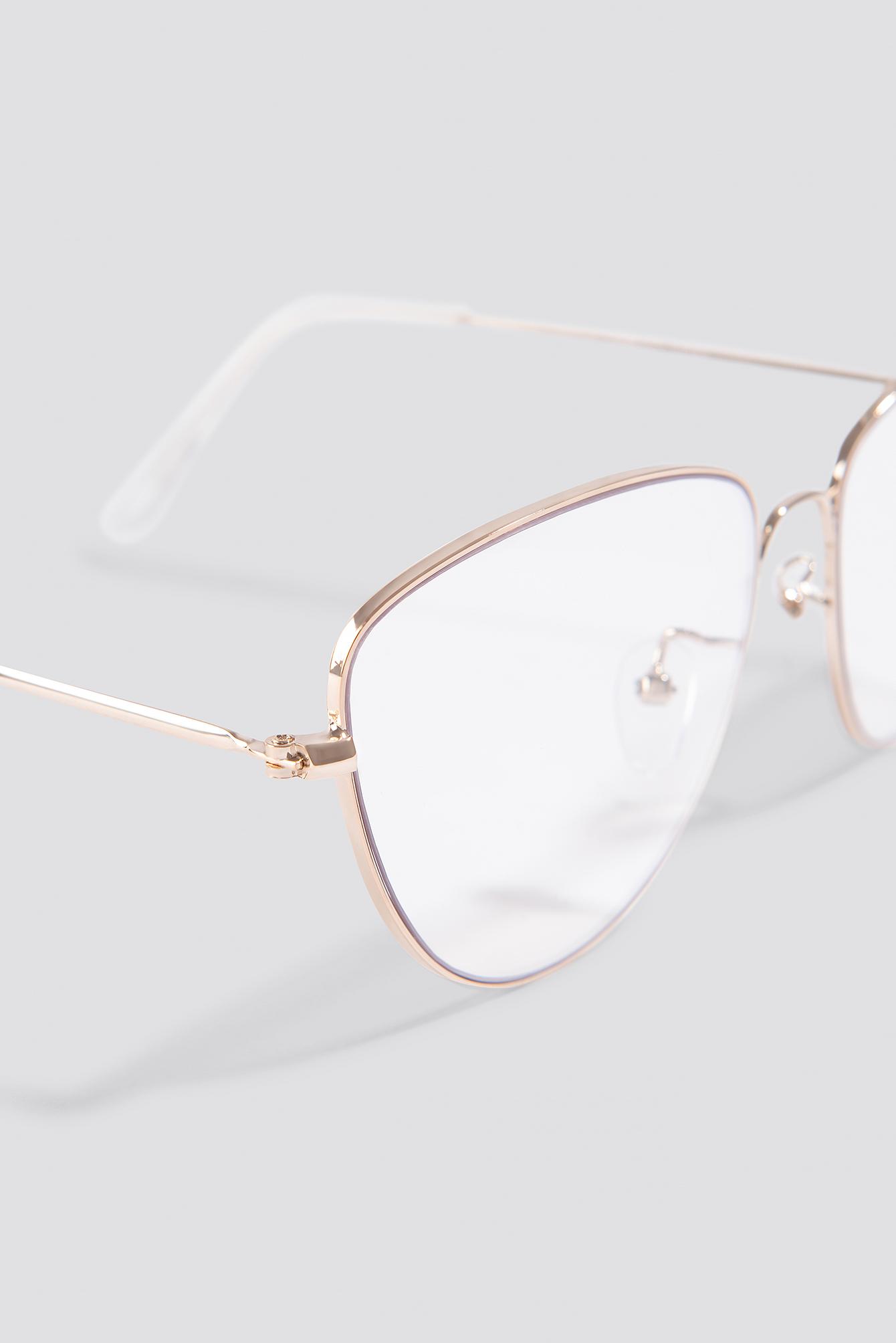 Round Metal Cat Eye Sunglasses NA-KD.COM